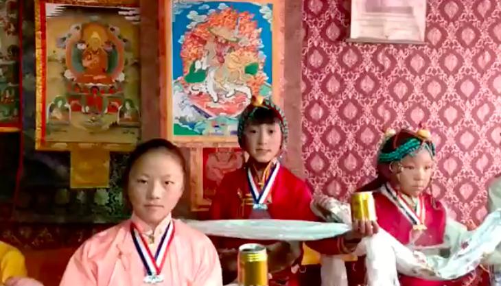 Beautiful Tibetan children wishing Happy New Year!
