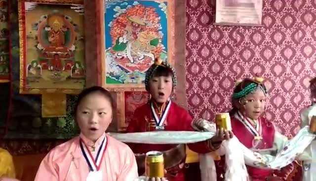 Adorable Tibetan kids wishing Happy New Year 2018