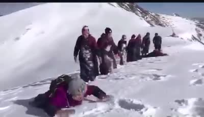 These people going on pilgrimage to a holy mountain and prostrating out of devotion and for pilgrimage in Tibet. Such determination for spiritual practice. Tsem Rinpoche