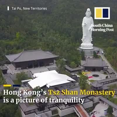 Beautiful Monastery in Hong Kong