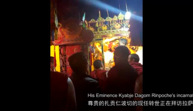 Kyabje Dagom Choktrul Rinpoche offering gold on a 350 year-old Dorje Shugden statue in his chapel in Lhasa. This is how Tibetans show homage and pay respect to a holy image. This chapel and statue of Dorje Shugden in Lhasa dedicated to Dorje Shugden was built by the Great 5th Dalai Lama. Tsem Rinpoche