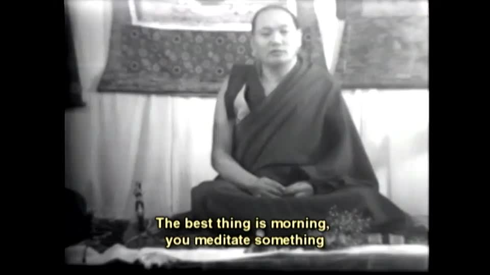 Lama Yeshe talks about how to practice at the beginning and at the end of each day during teachings given in London during the Lamas' first European teaching tour in 1975. Lama Yeshe was a brilliant teacher and I wanted to share this with everyone so his teachings can reach more people. Tsem Rinpoche